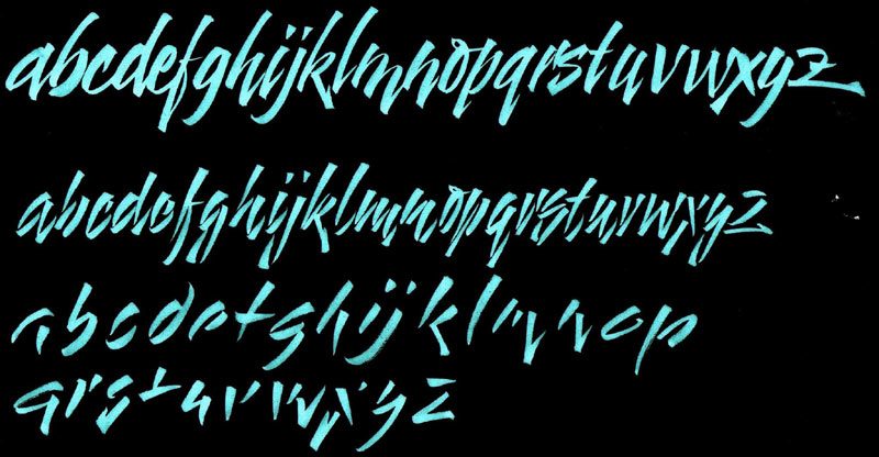 calligraphie de Corrie Cameron